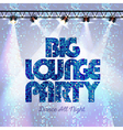 Disco background big lounge party vector image