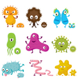 Cute Germ Characters Collection Set vector image