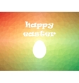 Happy Easter poster on colorful low poly vector image