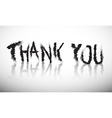 Thank You Grunge Title vector image