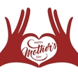 Mothers day greeting card vintage vector image