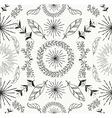 Abstract feather and floral seamless pattern vector image