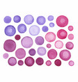 big set of purple watercolor label vector image