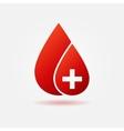 Blood drop concept logo or icon vector image