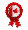 Canadian award ribbon vector image