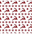 Ethnic nordic christmas seamless pattern vector image