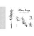 flower design art brush and pattern vector image
