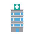 medical center building emergency first health vector image