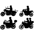 motorcyclists vector image
