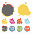 set of sale stickers banners two templates for vector image
