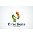 Direction arrows logo vector image