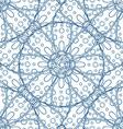Blue Hand Drawn Floral Design vector image