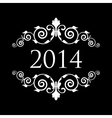 2014 vintage black and white vector image vector image