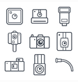 Icons retro photo camera vector image vector image