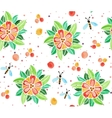 Watercolor pattern with flowers vector image