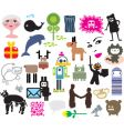 Mixed icons vector image