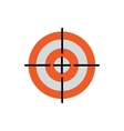 Line Icon with Flat Graphics Element of Target vector image vector image