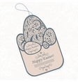 vintage easter tag vector image