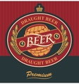 label for draft beer vector image vector image