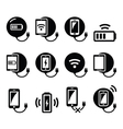 Wireless charging pad for smartphone or tablet vector image