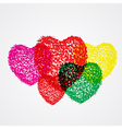 splash heart colorful vector image