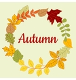 Autumn fallen colorful leaves frame vector image
