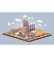 Cube World Warehouse vector image