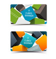 digital geometric horizontal banners vector image