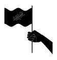 hand waving peace flag symbol vector image
