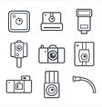 Icons retro photo camera vector image