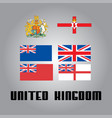 official government elements of united kingdom vector image