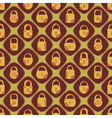 Seamless background with locks vector image