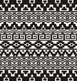 Seamless pattern with aztec ornaments vector image