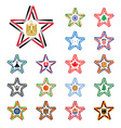 Set of stars made of ribbons with Egypt India vector image