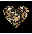 Coffee heart vector image