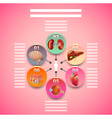Science infographics with human organs in circles vector image