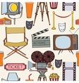 Seamless cinema pattern vector image