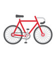 bicycle flat icon transport and vehicle bike vector image