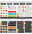 Collection of clean web buttons for your site vector image