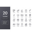 education and science line icons vector image