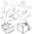 Household stuff set vector image