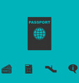 passport icon flat vector image