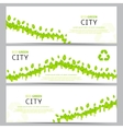 Set of elegant web eco banners vector image