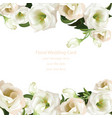 spring delicate flowers bouquet on lace background vector image