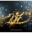 New Year 2017 fireworks vector image vector image