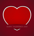 Red Heart paper background eps 10 vector image vector image