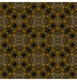 Linear pattern in art deco style in old gold vector image
