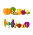 Organic farm vegetables in flat style vector image