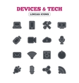 Devices and technologies icons Usb wi-fi vector image