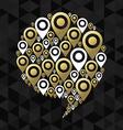 Gps speech bubble chat icon symbol concept shape vector image vector image